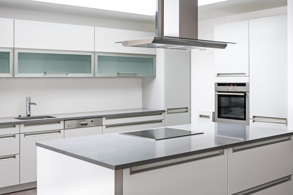 stainless steel benchtop